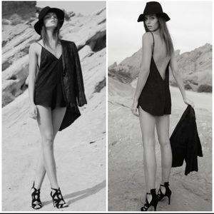 REFORMATION WILLOW Black Romper XS/S